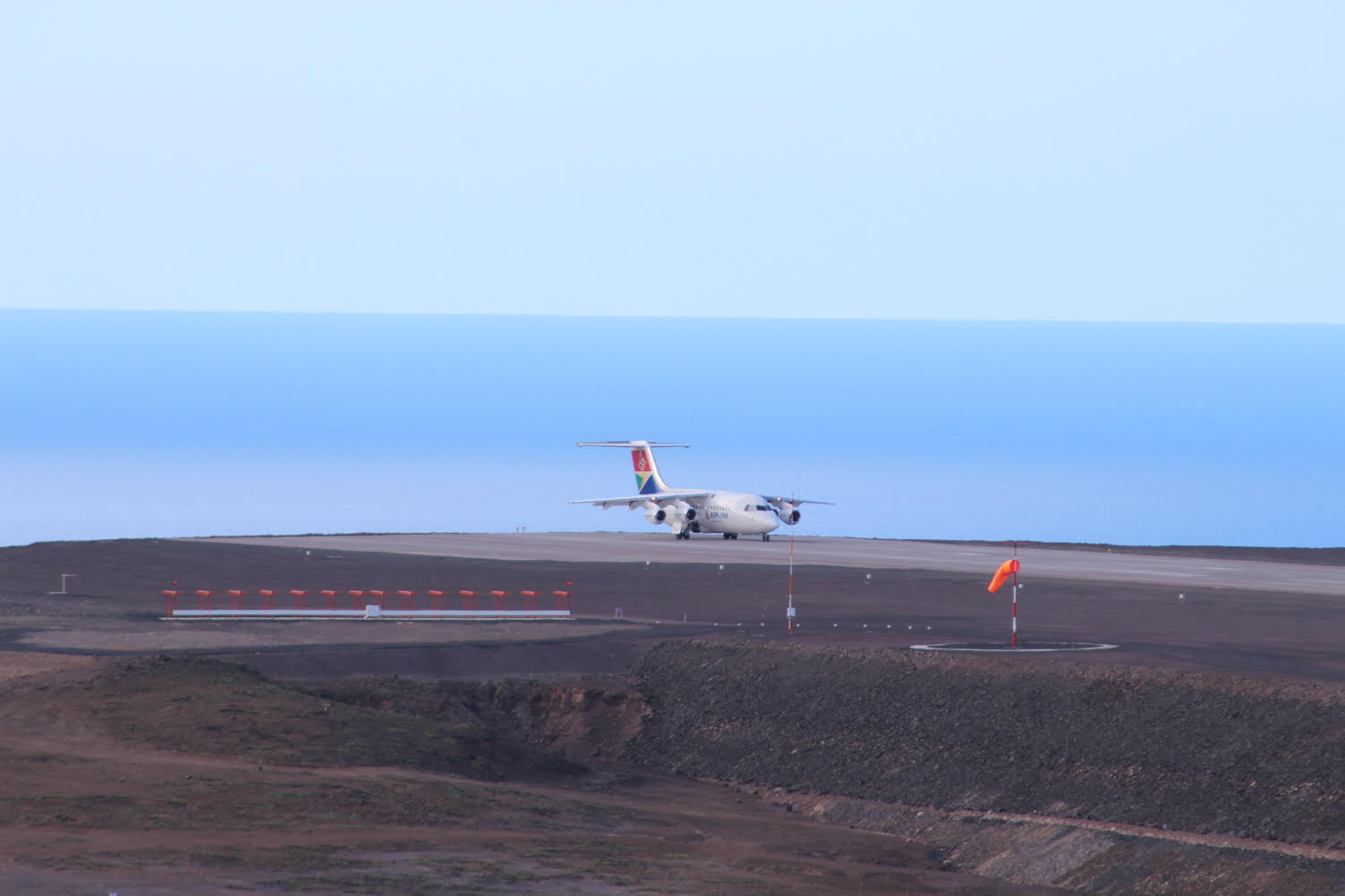St helena airport wind shear