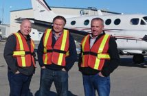 Executives at Red Deer Airport