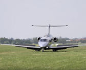 Pilatus biz jet certified for use on grass, muddy and snowy surfaces