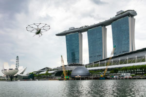 A live demonstration of the Volocopter eVTOL took place during October 2019 in Singapore