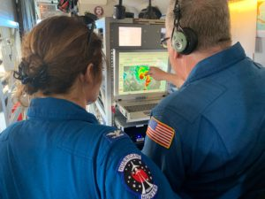 Researchers from the National Oceanic and Atmospheric Administration track and fly into storms to measure them