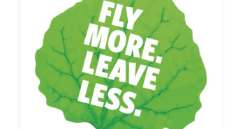 "Ross Aviation has a new carbon offset program that caries the theme ""Fly More. Leave Less"""