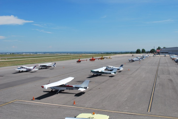Flight school ramp view