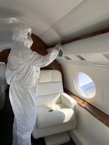 Aircraft and FBO cleaning and disinfection services are being offered by Clay Lacy Aviation
