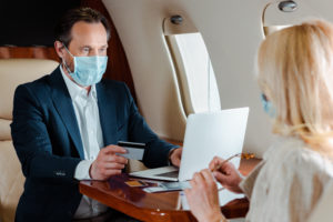 Masks have been made mandatory in FBOs and aircraft to reduce the spread of infection