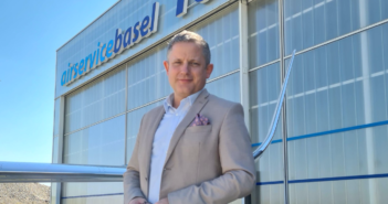 Air Service Basel's customer relations manager, Benedict Staehelin