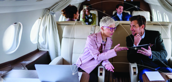 The selection of equipment and a provider for inflight connectivity depends on where you fly and the services your customers want