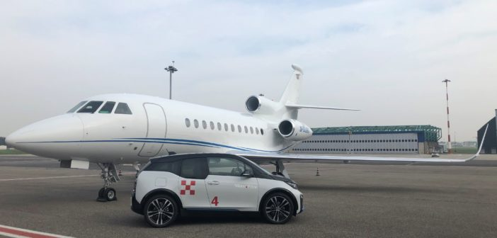 The collaboration will allow BMW to continue to provide electric cars for business aviation flights