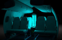 The disinfection procedure within Dash 8 Series aircraft between flights would be completed in under five minutes