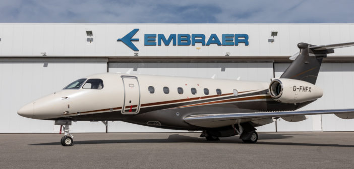 Embraer has delivered the first jet in a fleet of Praetor 600s to Flexjet