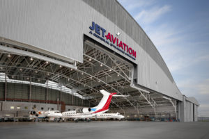 Jet Aviation's facility at Seletar Airport in Singapore provides maintenance and AOG services and was significantly expanded in 2014