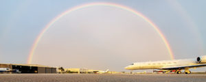 Reliance's Miami FBO has even be known to provide rainbows on the odd occasion