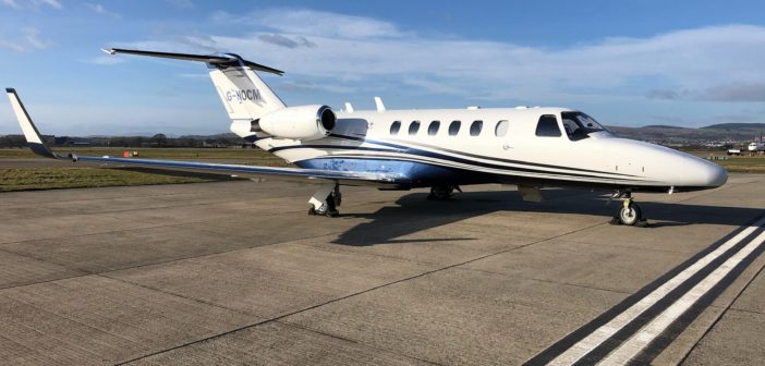Air Charter Scotland is making available a Cessna Citation 525A business jet for charter out of Glasgow Airport, in a company first