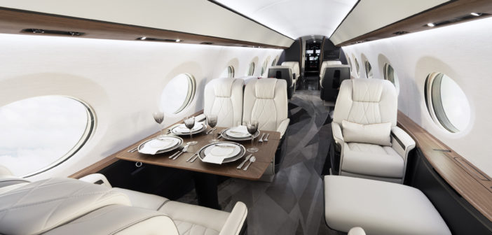 The G700 cabin altitude has been improved to 2,916 ft/889 m