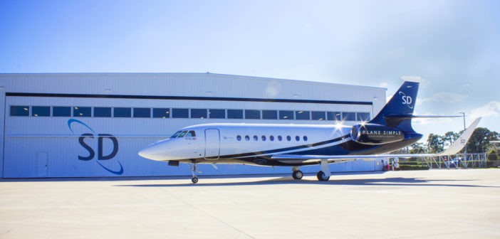 The SD Falcon 2000LX ready for Plane Simple antenna installation