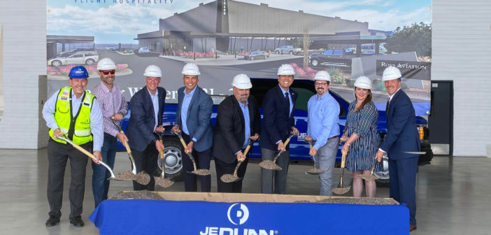 Ross Aviation has broken ground on a new 56,000 square foot hangar and two 3,000 square foot office buildings at Scottsdale Municipal Airport