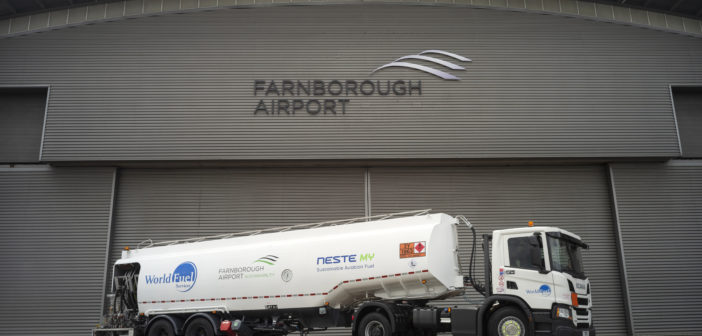 World Fuel Services continues expanding its global supply chain in sustainable aviation fuel by providing Farnborough Airport with a supply of SAF from Neste's European refinery