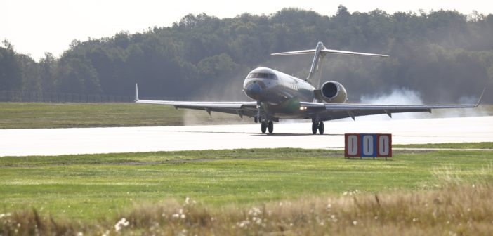Bombardier Global aircraft arrives in Sweden