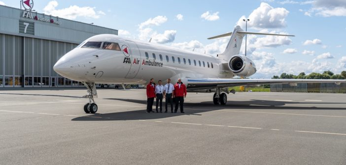 FAI rent-a-jet has configured one of its seven Global Express aircraft as a dedicated air ambulance